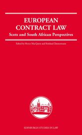 European Contract LawScots and South African Perspectives