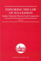 Exploring the Law of Succession – Studies National, Historical and Comparative - Edinburgh Scholarship Online