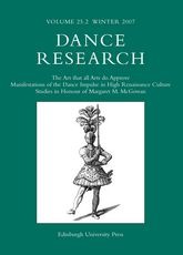 Dance Research: The Journal of the Society for Dance Research